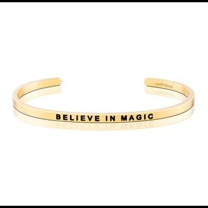 Believe in magic mantraband bracelet in gold